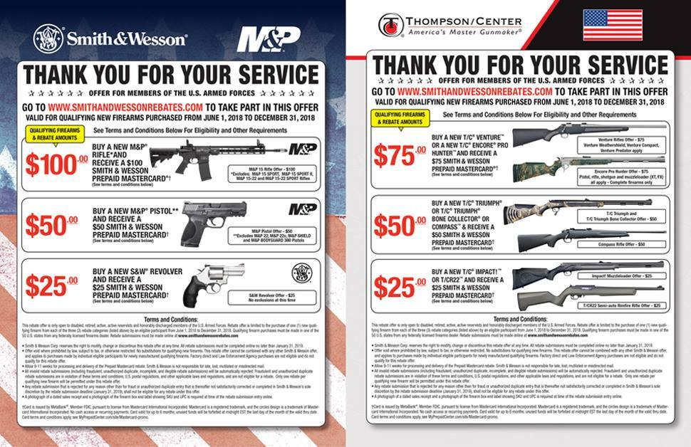 Smith Wesson Thank You Service 6118 123118
